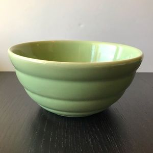 Bauer Vintage #12 Green Pottery Mixing Bowl